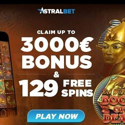 AstralBet Casino 129 free spins and $/€3,000 exclusive bonus