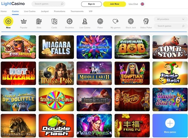 Light Casino review