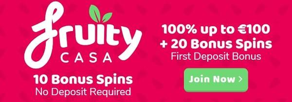 Fruity Casa Casino 10 free spins no deposit bonus