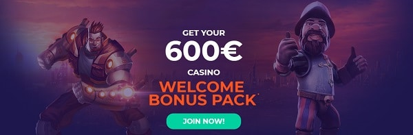 VulkanBet Casino 600 EUR bonus and 100 free spins