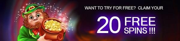 Get 20 free spins no deposit bonus on sign-up