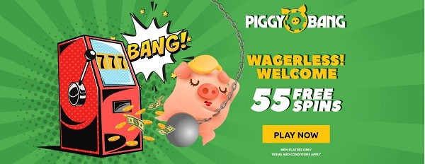 Register now and get 55 free spins no wager bonus