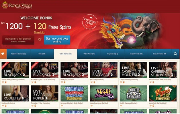 Royal Vegas Casino Online Review