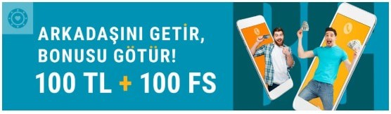 Bahsegel 100 TL and 100 freespin