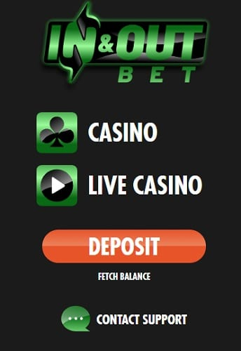 InOutBet Casino Pay N Play