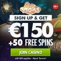 Slotty Vegas Casino 50 free spins and €150 welcome bonus