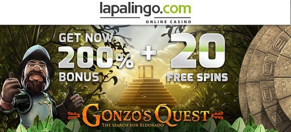 Claim 200% bonus and 20 gratis spins
