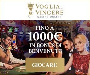 Voglia di Vincere Casino (Italia) €1,000 bonus e giri gratuiti