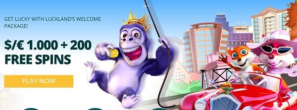 $/€1,000 welcome bonus and 200 Free Spins