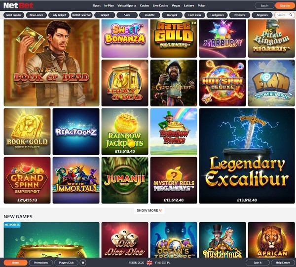 NetBet Casino Review, Free Spins, Welcome Bonus
