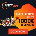 Buff.bet Casino €1000 welcome bonus and €25 free bet bonus