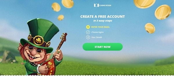 Create an account in a few seconds