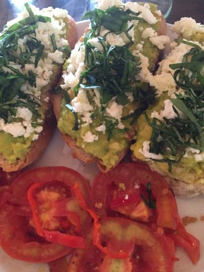 FAT - feta, avocado, tomato toast at Yellow Flower Cafe, Ubud