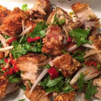 Crispy Asian Roast Pork Belly Salad