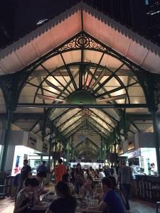 Beautiful colonial architecture of Lau Pa Sat hawker centre, originally a wet market
