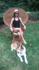 peacock chair & rough collie