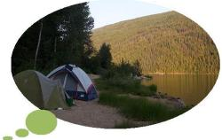 Camping_by_Barriere_Lake,_British_Columbia_-_20040801 released to public domain