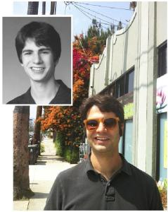 Smiling side of Ned Vizzini as an adult and as a teen
