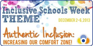Inclusive schools week logo and link