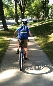 Biking to school c Eric Braun