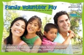 family volunteer day logo from generationOn