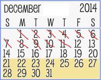 December Countdown calendar