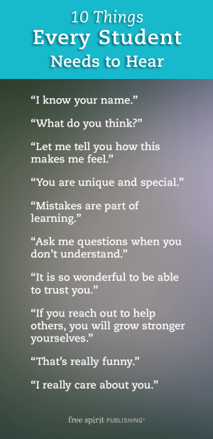 10 Things Every Student Needs to Hear