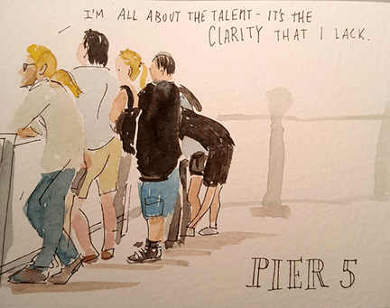 Summer (Watercolor and ink)