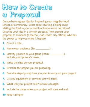Proposal Page