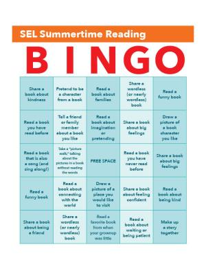 SEL Summertime Reading BINGO