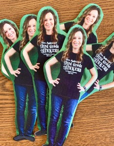 Multiple tiny cut outs of Shannon Anderson