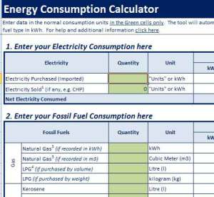 fossil fuel consumption calculator