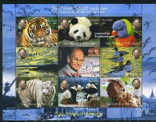 Sit Peter Scott stamp sheet