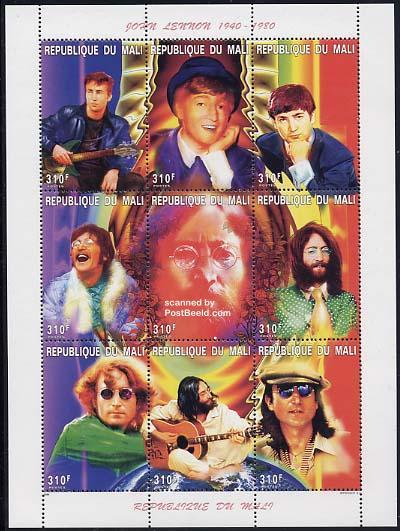 John Lennon op postzegels