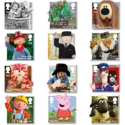 Classic Children's TV Stamp Set