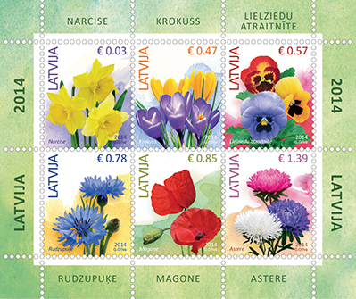 Latvijas Pasts released first stamps denominated in euros