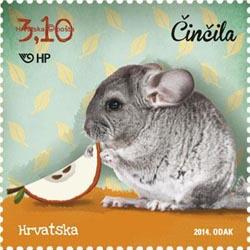 Chinchilla 2014 Croatia stamp