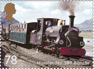Hunslet No589 Blanche postage stamp