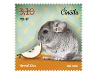 Stamp Croatia 2014 cincila