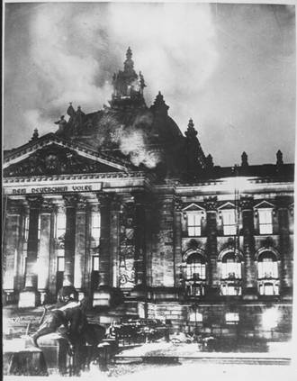 The Reichsdag burning