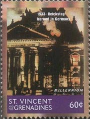 Stamp Recihsdag St.Vincent Grenadines