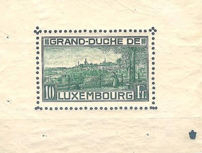 The first stampsheet was issued by Luxemburg in 1923