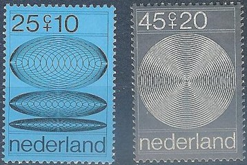 The first computer designed stampset was issued by tThe Netherlands