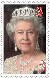 Koningin-Elizabeth-collects-stamps