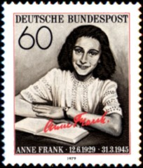 Postage stamp Anne Frank issued by Germany