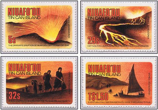 Tonga 1883 eruption Tin Can island 1946