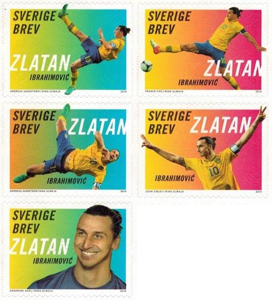 zlatan ibrahimovic stamps