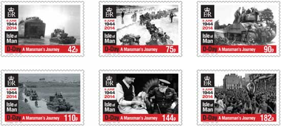 Isle-of-Man-stampset-D-Day