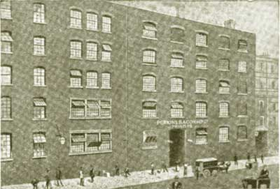 Old photograph of printer Perkins Bacon