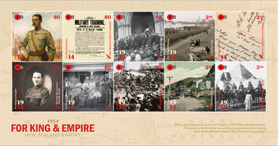 1914 for king and empire stamps